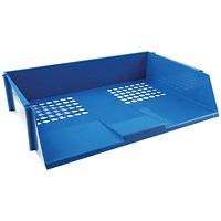 Q-Connect Wide Entry Letter Tray - Blue