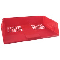 Q-Connect Wide Entry Letter Tray - Red