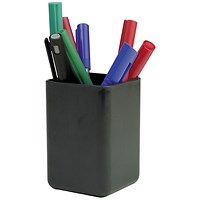 Q-Connect Executive Pen Pot - Black
