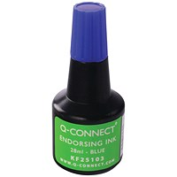 Q-Connect Endorsing Ink 28ml Blue (Pack of 10)