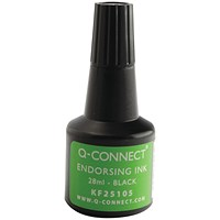 Q-Connect Endorsing Ink 28ml Black (Pack of 10) KF25105Q