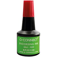 Q-Connect Endorsing Ink 28ml Red (Pack of 10)