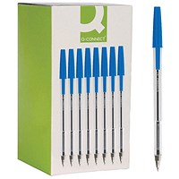 Q-Connect Medium Blue Ballpoint Pen (Pack of 50)