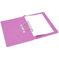 Q-Connect Transfer File, 300gsm, Foolscap Pink, Pack of 25