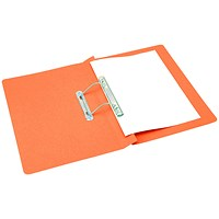 Q-Connect Transfer Files, 300gsm, Foolscap, Orange, Pack of 25