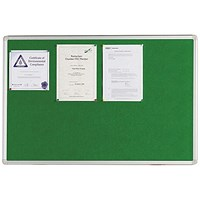 Q-Connect Noticeboard, Aluminium Trim, W1200xH900mm, Green