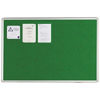 Q-Connect Aluminium Frame Felt Noticeboard 1800x1200mm Green 54034205