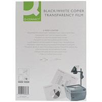 Q-Connect A4 Clear Over Head Projector Film- Pack of 100