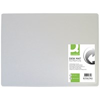 Q-Connect PP Desk Mat With Non-Slip Surface 40X53 Clear