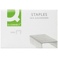 Q-Connect Staples 26/6mm (Pack of 5000)
