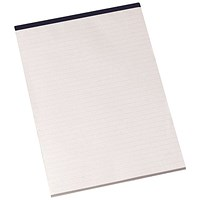 Q-Connect Memo Pad, A4, Ruled Feint, 80 Leaf, Pack of 10