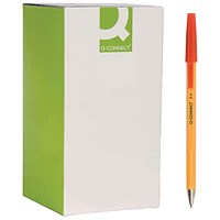 Q-Connect Ballpoint Pen Fine Red (Pack of 20)