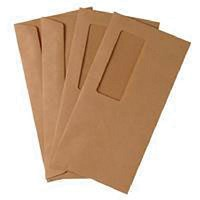 Q-Connect DL Envelopes Wallet High Window Gummed 70gsm Manilla (Pack of 1000)