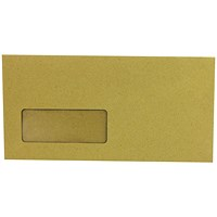 Q-Connect DL Envelopes Wallet Window Gummed 70gsm Manilla (Pack of 1000)