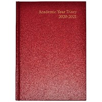 Academic Diary Week to View A5 Burgundy 2020-21 KF3A5ABG21