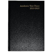 2019-2020 Academic A5 Diary, Week to View, Black