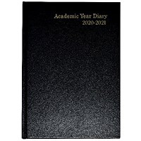 Academic Diary Week to View A5 Black 2020-21 KF3A5ABK21
