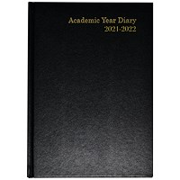 Academic Diary Week To View A5 Black 2021-22