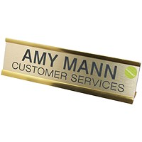 Q-Connect Custom Door/Desk Name Plate - 50x250mm