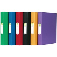 Q-Connect A4 Plastic Ring Binder, 2 O-Ring, 25mm Capacity, Assorted, Pack 10