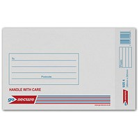 GoSecure Bubble Lined Envelope Size 4 180x265mm White (Pack of 100) KF71449