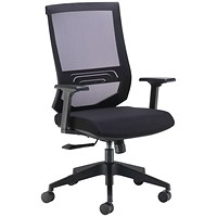 Arista Octave High Back Executive Mesh Chair - Black