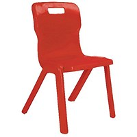Titan One Piece Chair 350mm Red