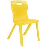 Titan One Piece Chair 430mm Yellow