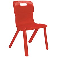 Titan One Piece Chair 460mm Red