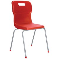 Titan 4 Leg Chair 350mm Red (Conforms to BS EN1729 Parts 1 and 2)