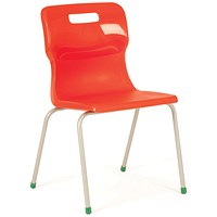Titan 4 Leg Chair 380mm Red (Conforms to BS EN1729 Parts 1 and 2)