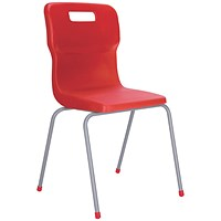 Titan 4 Leg Chair 460mm Red (Conforms to BS EN1729 Parts 1 and 2)