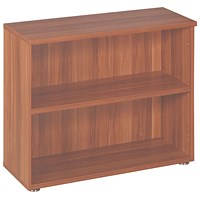Avior Low Bookcase, 800mm High, Cherry