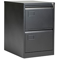 Jemini 2 Drawer Filing Cabinet Black KF72585