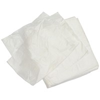 2Work Square Bin Liners 30 Litre White (Pack of 1000)