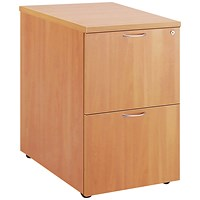 First Two Drawer Filing Cabinet Beech TES2FCBE2