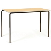 Jemini PU Edged Class Table W1200 x D600 x H760mm Beech/Silver (Pack of 4)