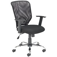 First Mesh Task Chair Black (Seat Dimensions: W500 x D480mm)