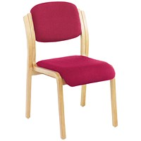 First Wood Side Chair Claret