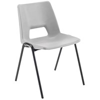 Jemini Polypropylene Stacking Chair Grey (Suitable for indoor and outdoor use)