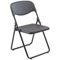 Jemini Folding Chair, Black, Pack of 4