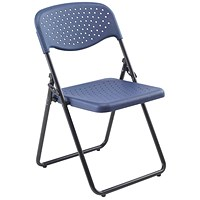 Jemini Folding Chair, Dark Blue, Pack of 4