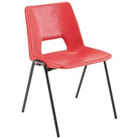 Jemini Classroom Chair / 380mm / 8-11 Years / Red