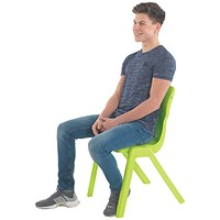 Titan One Piece School Chair Size 1 Lime (All in one plastic construction)
