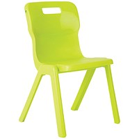 Titan One Piece Chair 350mm Lime