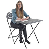 Titan Folding Exam Desk Polypropylene Charcoal