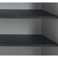 Talos Tambour Black Shelf - designed for use with Talos side opening tambour cupboards