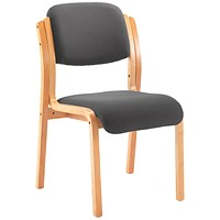 First Wood Reception Side Chair No Arms Charcoal
