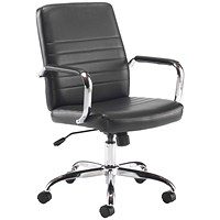 Jemini Amalfi Leather Chair - Black