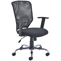 Jemini Low Back Operator Mesh Chair - Black